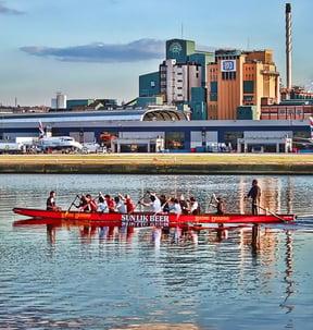 Dragon Boat at London City Airport