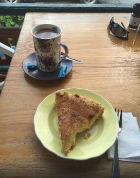 Coffee and milk tart