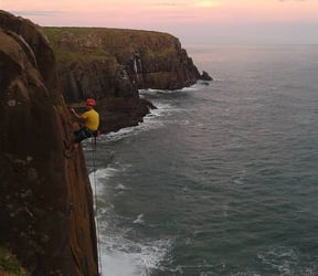 Climbing in Morgan Bay with Rock Face Labs