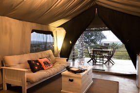 Thali Thali Game Lodge Luxury Tent Interior