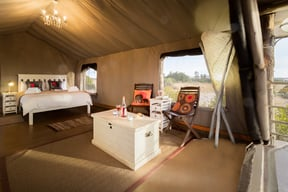 Thali Thali Game Lodge Luxury Tent Interior 2
