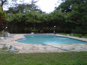 The pool is approx. 13 metres in length and is accessed from campsite