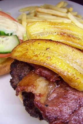 A variety of Burgers available - beef or chicken