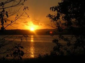 Sunset over Island Lake