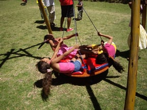 Our outside area features another unique and exciting play equipment: our dream swing
