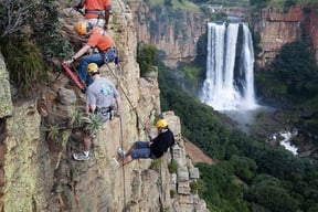 Popular Abseiling rout over looking the Elands Falls