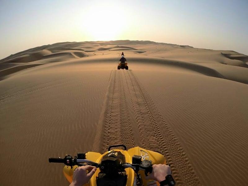 Quad biking Swakopmund sand dunes