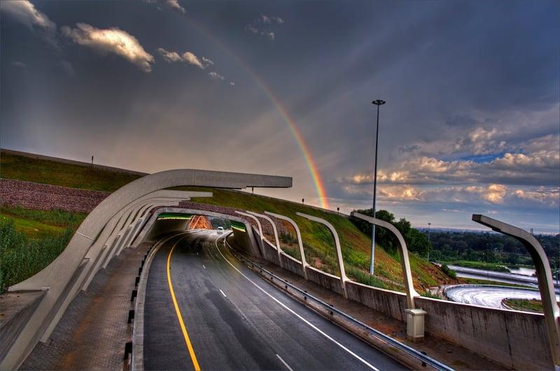 Alberton tunnel rainbow