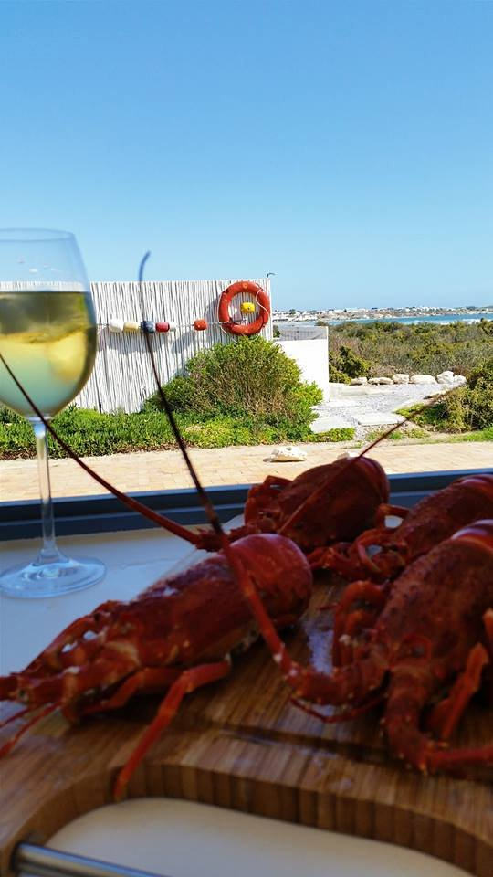 Crayfish lunch at Nieuview, Paternoster