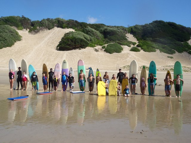 Surf school, Nahoon Beach