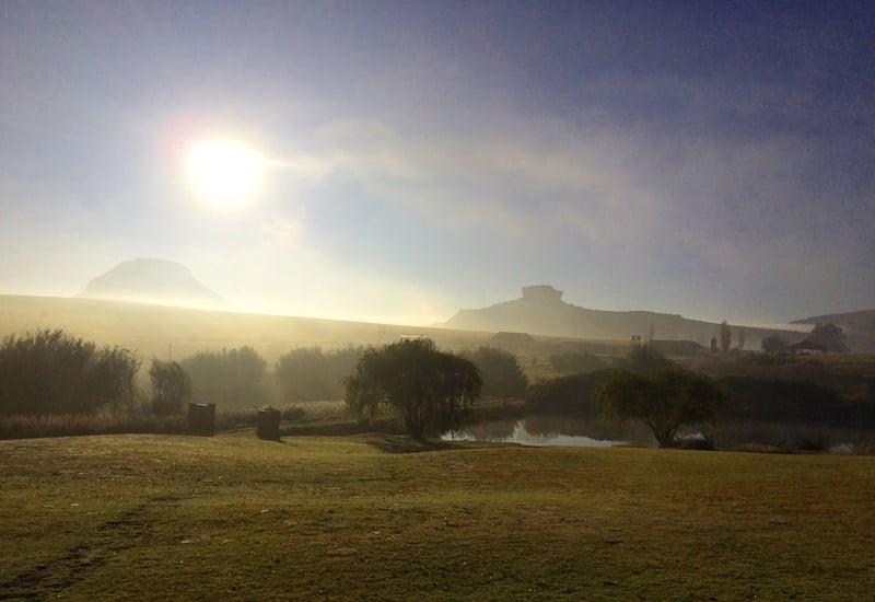 Misty morning on a farm near Fouriesburg