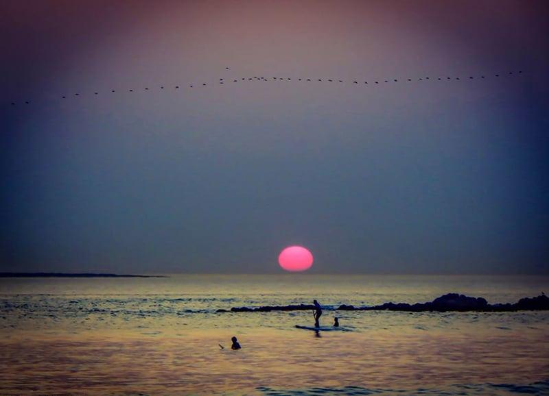 Sunset surf, Blouberg