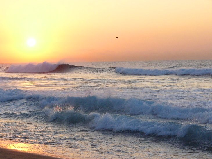Beach sunrise at The Bluff, Durban