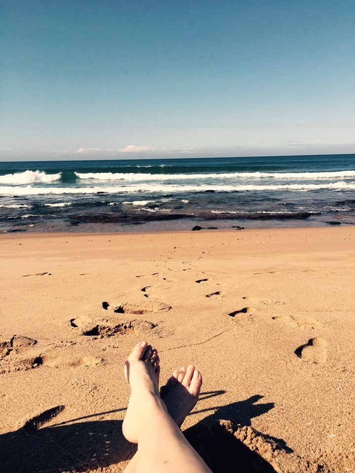 Relaxing on the beach at The Bluff, Durban