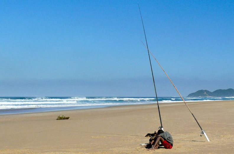 Fishing at Ponta Malongane Beach