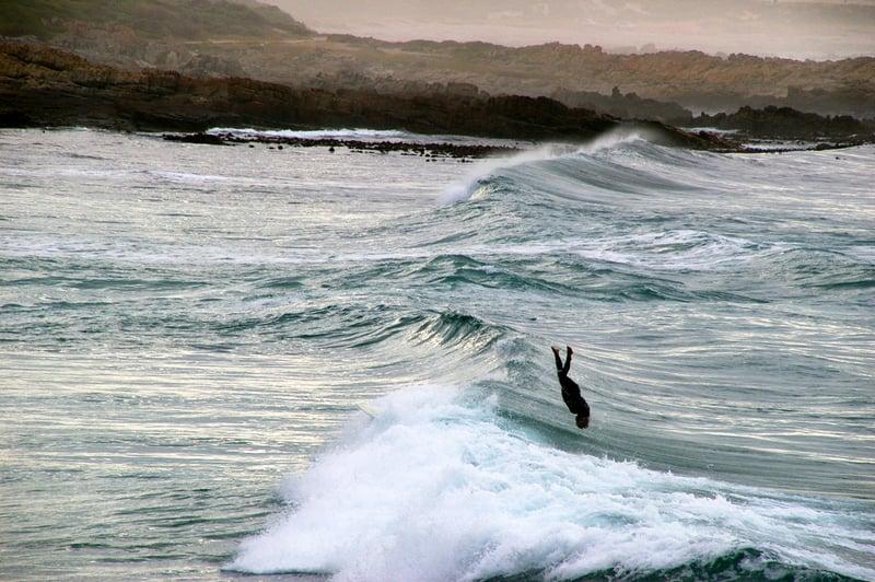 Surfing at Onrus
