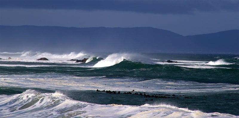 Stormy sea at Onrus