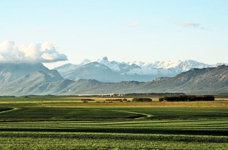 Elandskloof Mountains seen from Hermon farmlands