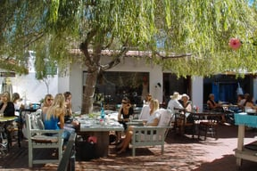 Come and experience the shady courtyard on a summer's day.